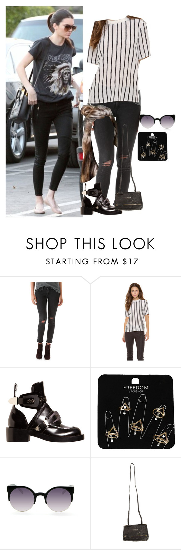 """""""B-road trip with kendall in london"""" by onedirectionnhllz ❤ liked on Polyvore featuring rag & bone/JEAN, Theory, Balenciaga, Topshop and Givenchy"""