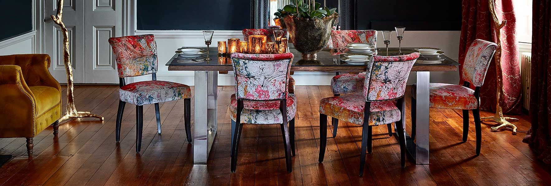 Pleasant Timothy Oulton Mimi Velvet Faded And Degraded Dining Chair Gmtry Best Dining Table And Chair Ideas Images Gmtryco