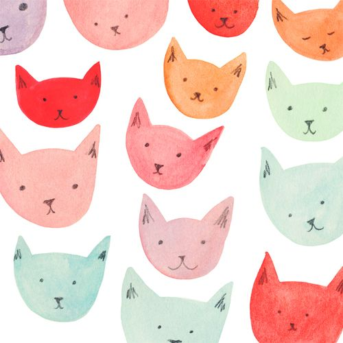 Nothin' better than a bunch of pastel kitties. Hey can someone make bedsheets/wallpaper/various items of clothing with this print and then send them to me? Thanks.