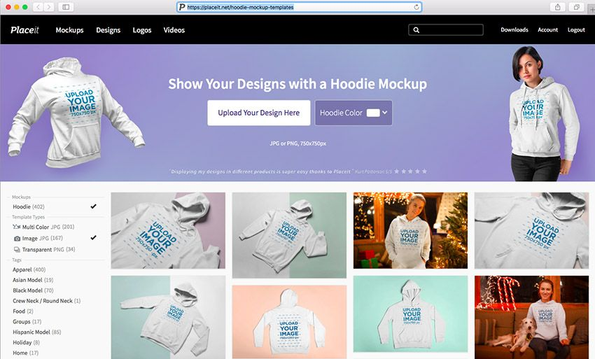 Download 22 Best Hoodie Mockup Templates Pullover And Zip Up Hoodie Mockup Mockup Templates Hoodie Template