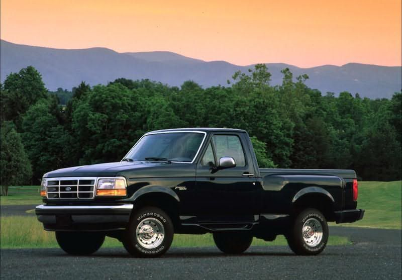 Black 1994 Ford F150 Flareside Danny S Truck Was An Extended Cab Pickup Trucks Ford Trucks Ford Pickup