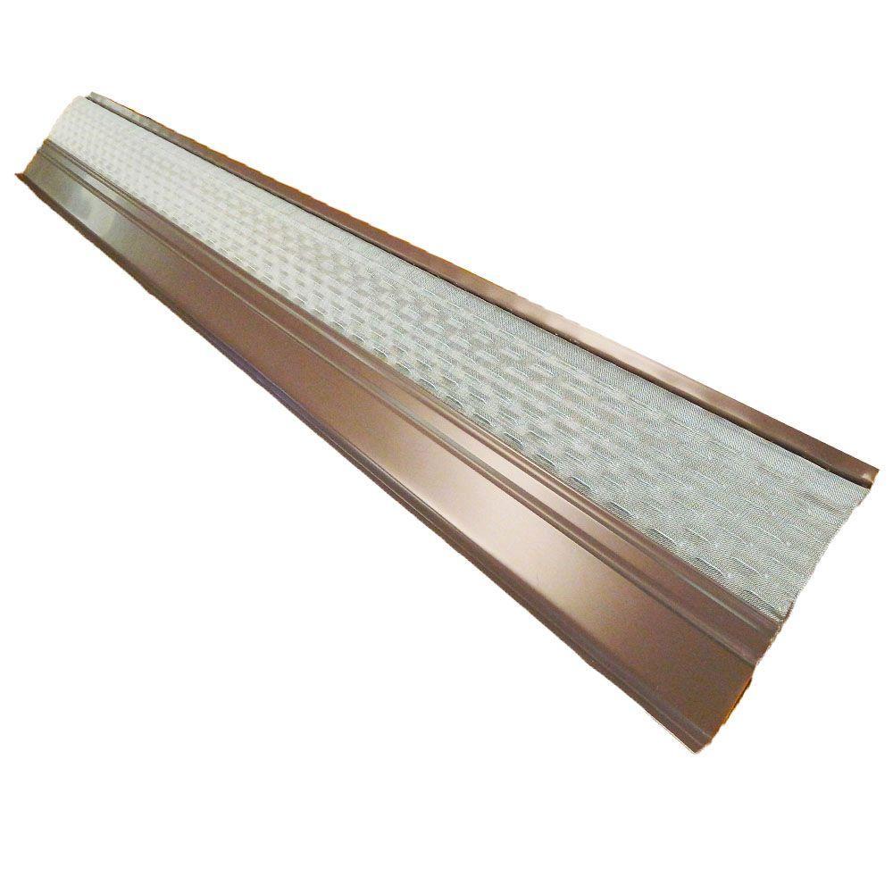 4 Ft X 6 In Clean Mesh Brown Aluminum Gutter Guard 25 Per Carton 99452 Gutter Guard Cleaning Gutters Standing Seam Metal Roof