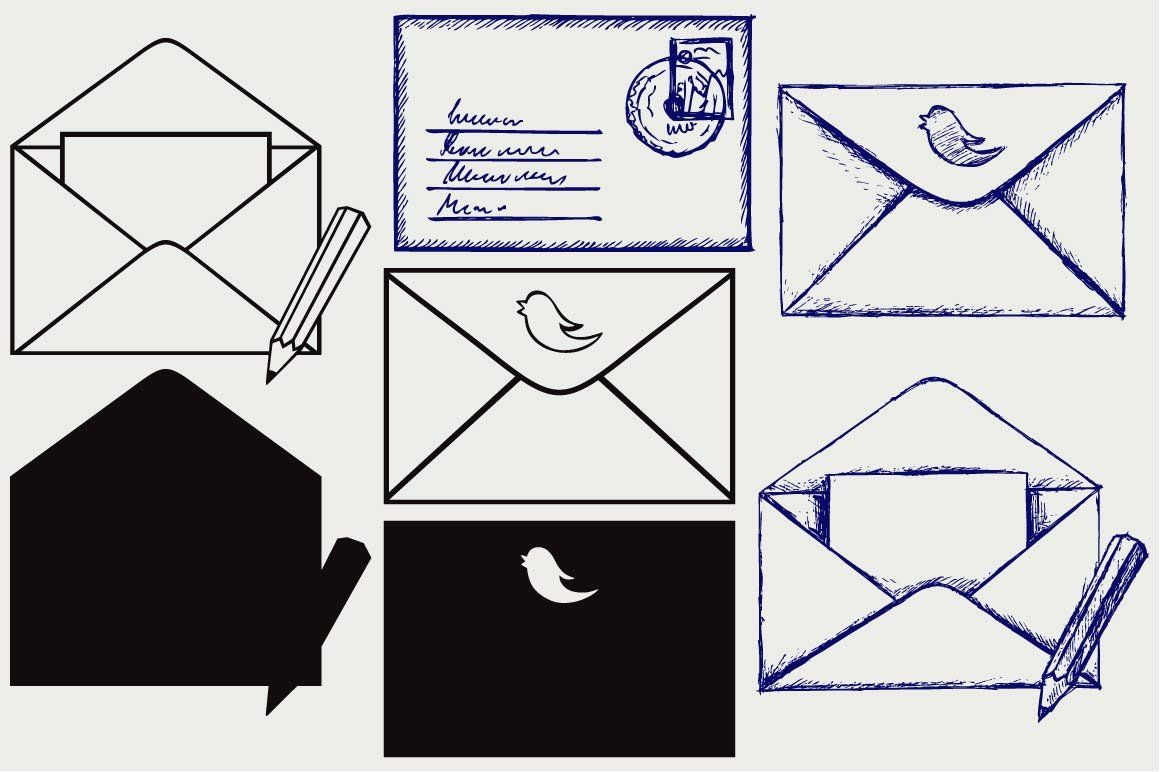 Open envelope SVG   Creative sketches, Graphic
