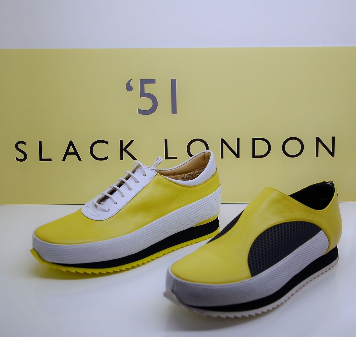 Slack London Sneaker gelb-weiss-schwarz