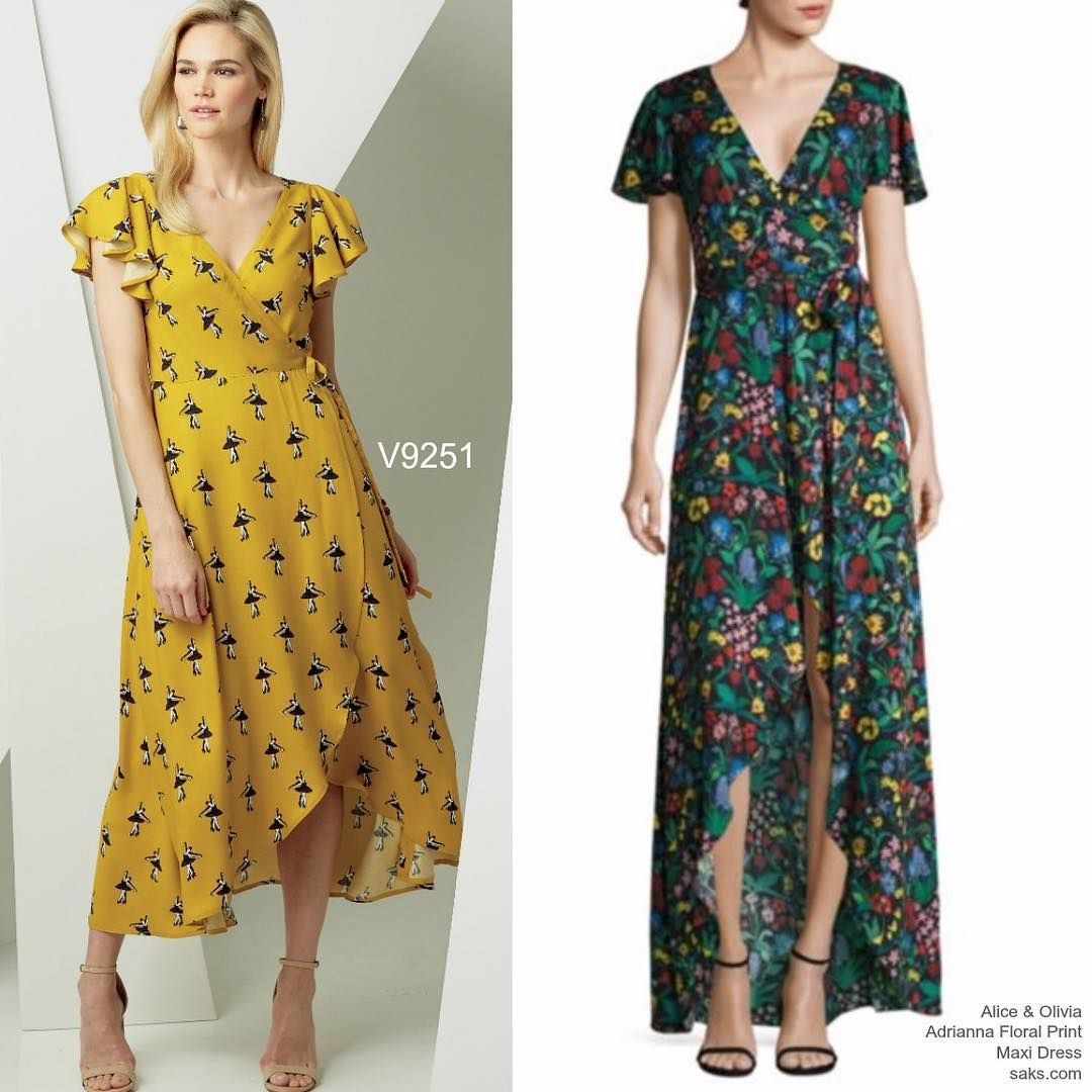 More Wedding Guest Dress Inspo From The New Voguepatterns Collection V9251 Sewthelook Inspo Dr Vogue Patterns Floral Print Maxi Dress Clothing Patterns [ 1080 x 1080 Pixel ]