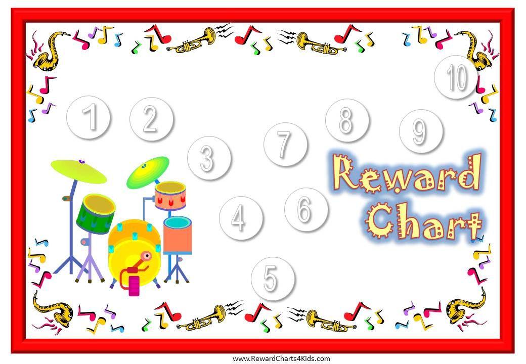 Drums Behavior Chart  Rewards    Drum Lessons