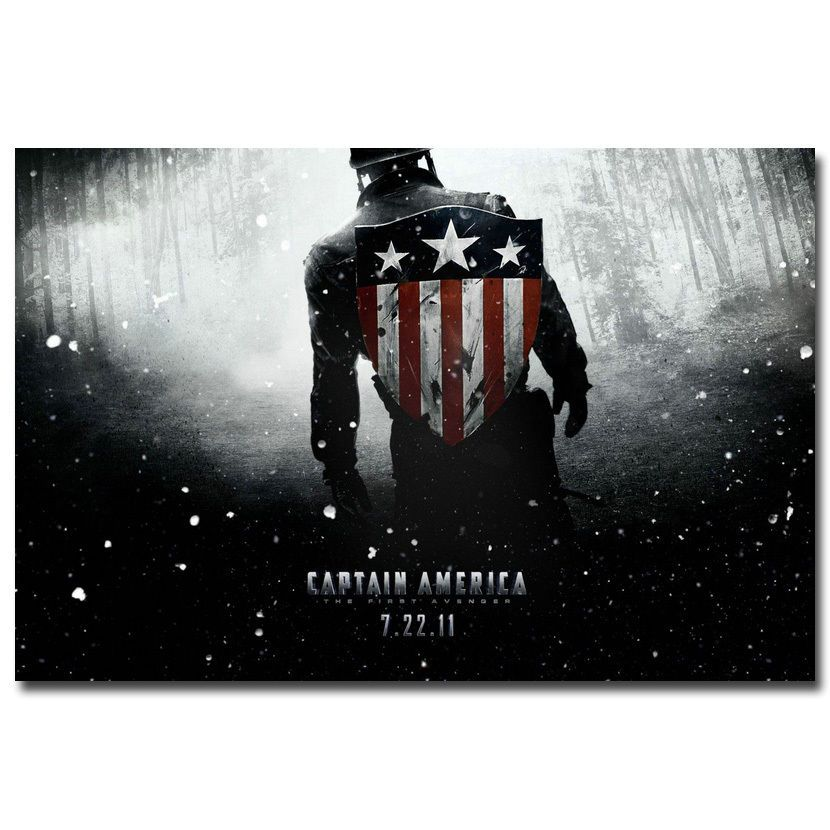 """Captain America 2 The Winter Soldier Superheroes Movie Silk Poster 12x18 24x36/"""""""