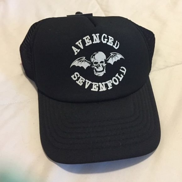 bb675397f85af Avenged Sevenfold hat Black Avenged Sevenfold. NWT. Hot Topic Accessories  Hats