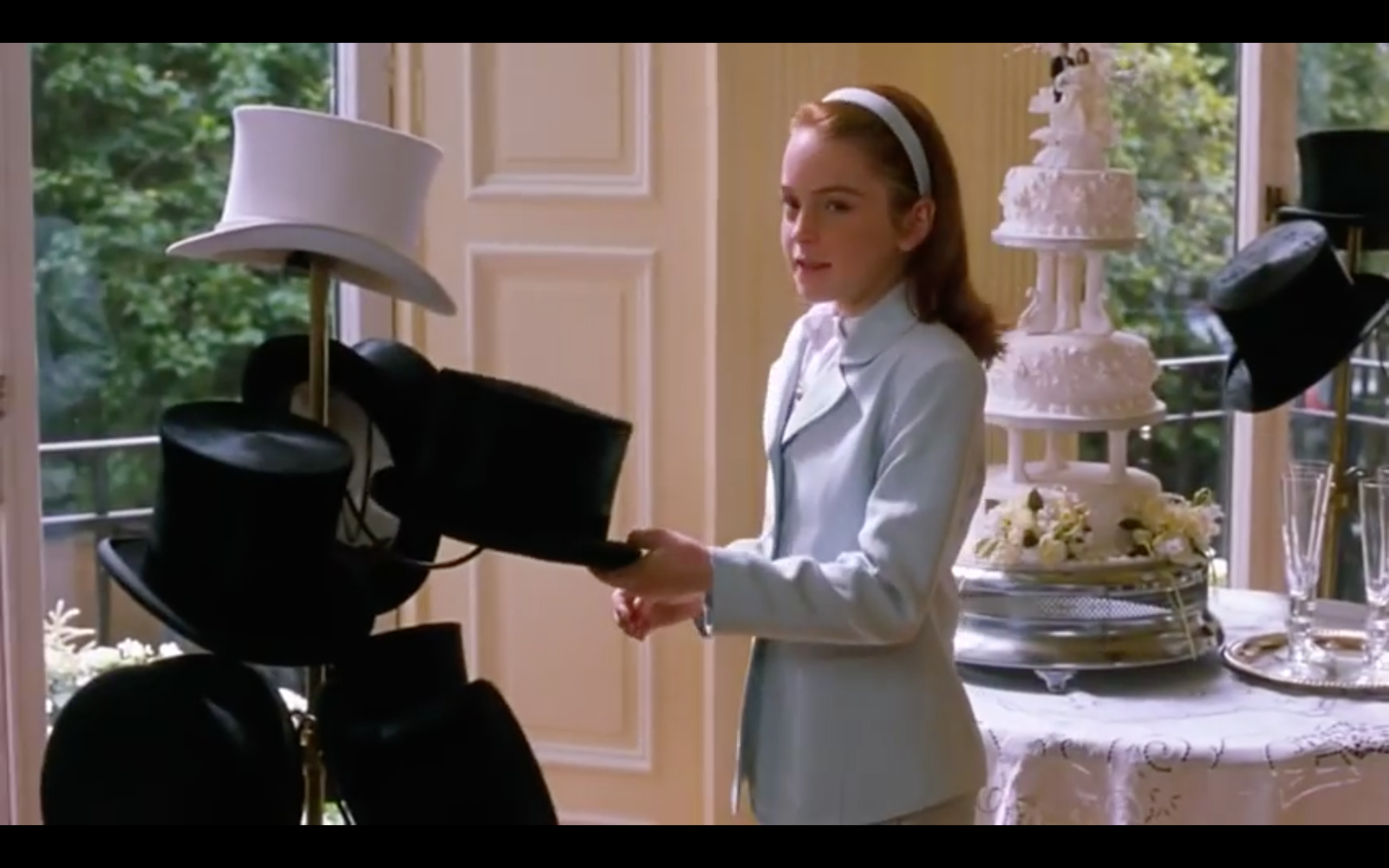 Top Hats In The Parent Trap Wedding Dress Photoshoot Scene Parent Trap Parent Trap Twins Parent Trap Movie
