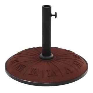 International Caravan Resin Compound Roman Numeral Umbrella Stand (Terra Cotta), Red(Synthetic Fiber)