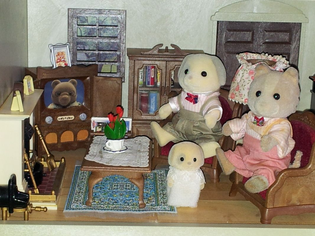 image result for furnished sylvanian house living room. beautiful ideas. Home Design Ideas
