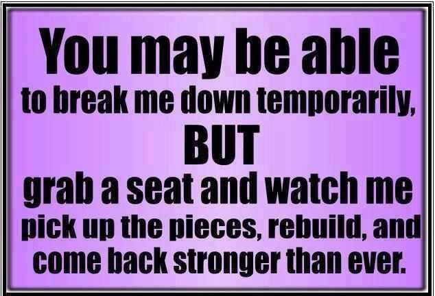 Except That You Really Cant Break Me Down But You Can Try It Wont
