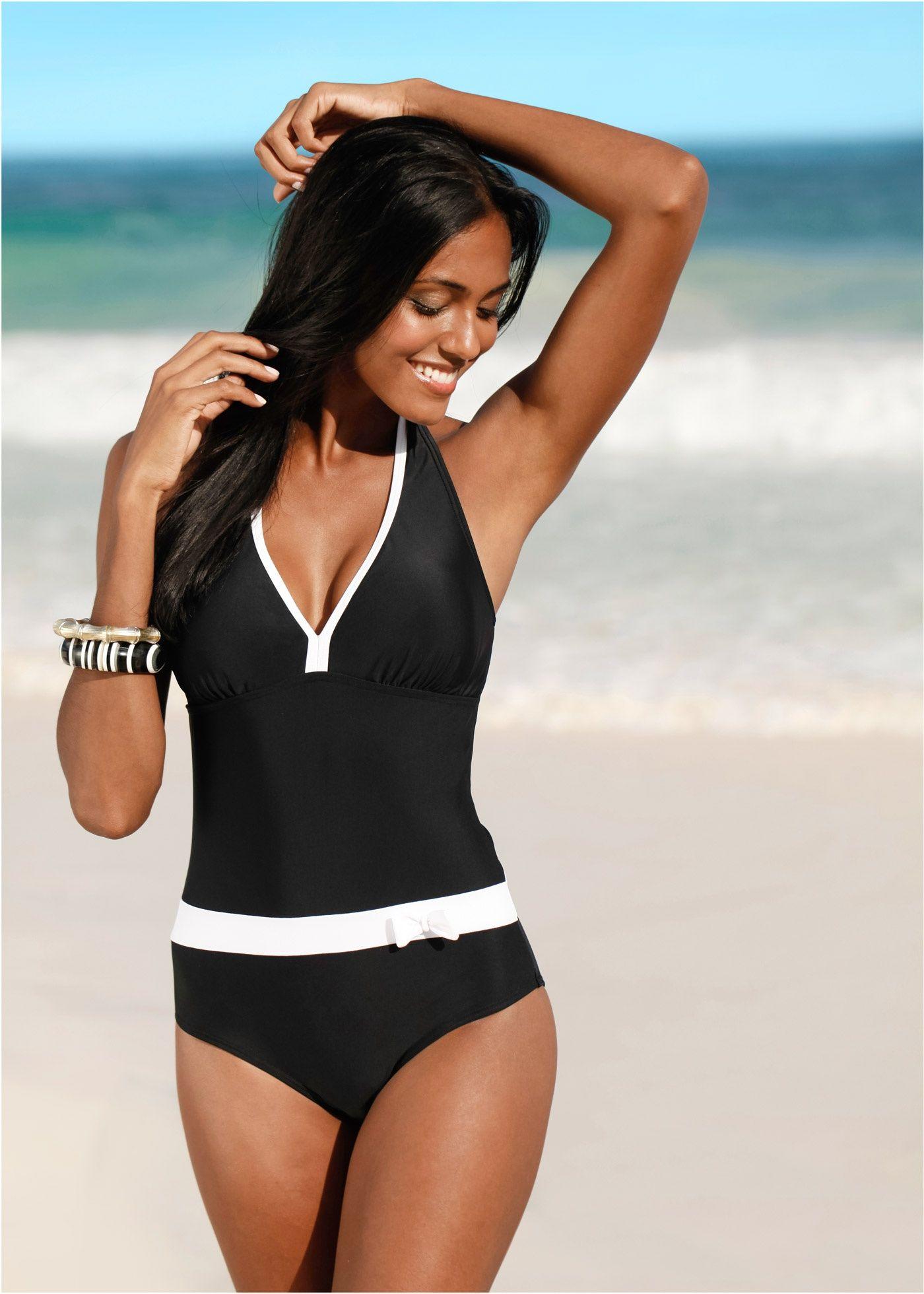 suche nach original gehobene Qualität neu authentisch Badeanzug schwarz - bpc bonprix collection jetzt im Online ...