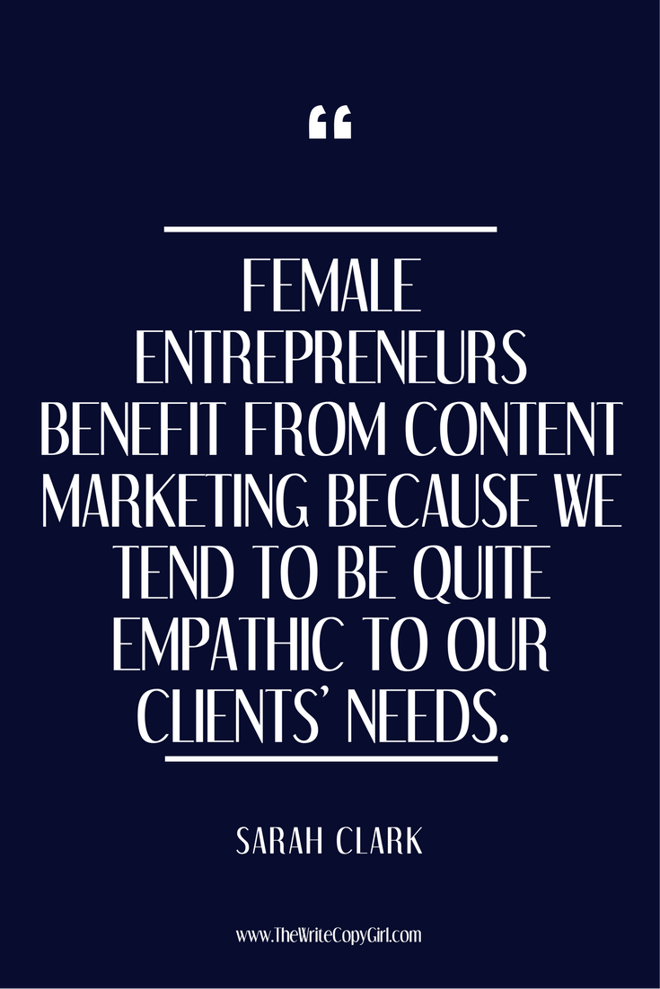 '#FemaleEntrepreneurs benefit from #ContentMarketing because we tend to be quite empathic to our clients' needs'  Ask The Experts: What Is Content Marketing? http://thewritecopygirl.com/ask-the-experts-what-is-content-marketing/?utm_campaign=coschedule&utm_source=pinterest&utm_medium=Hazel&utm_content=Ask%20The%20Experts%3A%20What%20Is%20Content%20Marketing%3F   #BizFreedom #BizScope #BeingBoss #BeYourOwnBoss #boss #BossBabe #BossChic #CalledToBeCreative #CEOLife #CreativeLifeHappyLife…