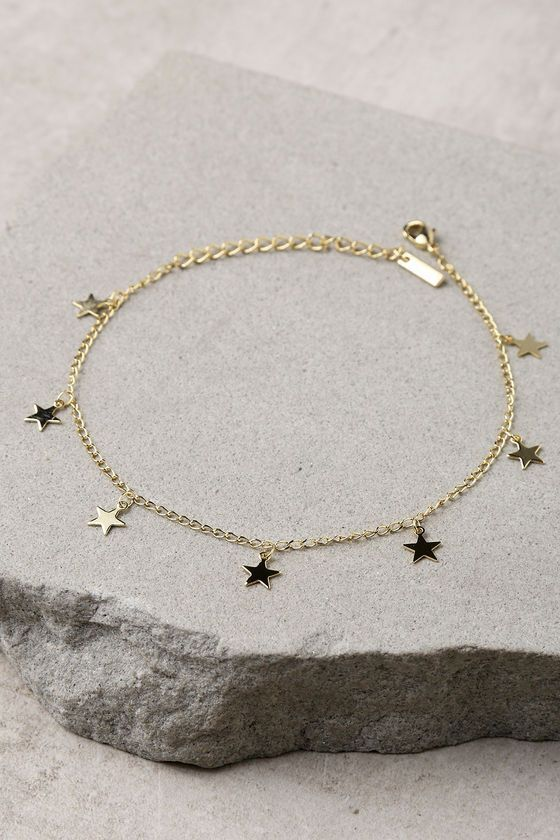 gold cz with rose coin dainty il listing anklet