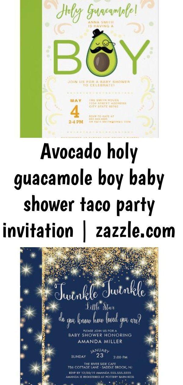 Avocado holy guacamole boy baby shower taco party invitation | ,  Avocado holy guacamole boy baby s