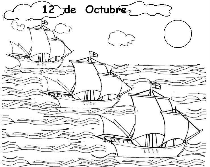 SECRETOS: 12 de Octubre: Imagenes para Colorear | Imprimible 1er ...