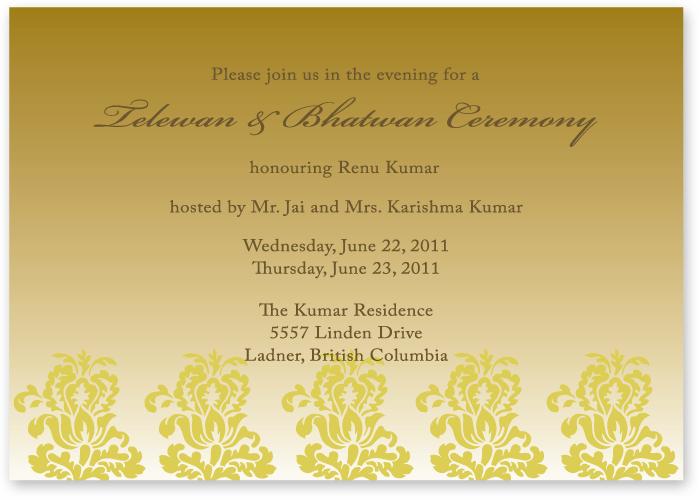 PreWedding Event Card  invitation  Wedding pinterest