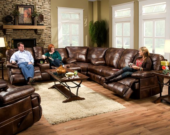 Simmons Nubuck Harvest 3 Piece Sectional Living Room