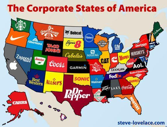 Etats Unis Voici La Carte Reprenant L Entreprise Emblematique