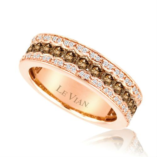 Strawberry Gold Ring With Chocolate Vanilla Diamonds Exclusively From Levian