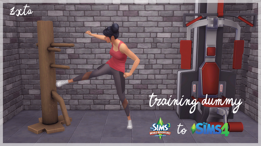 This Is Cool Training Dummy Conversion From Sims3 To Sims4 Created By Zx Ta Blogspot Sims 4 Skills Sims Sims Packs