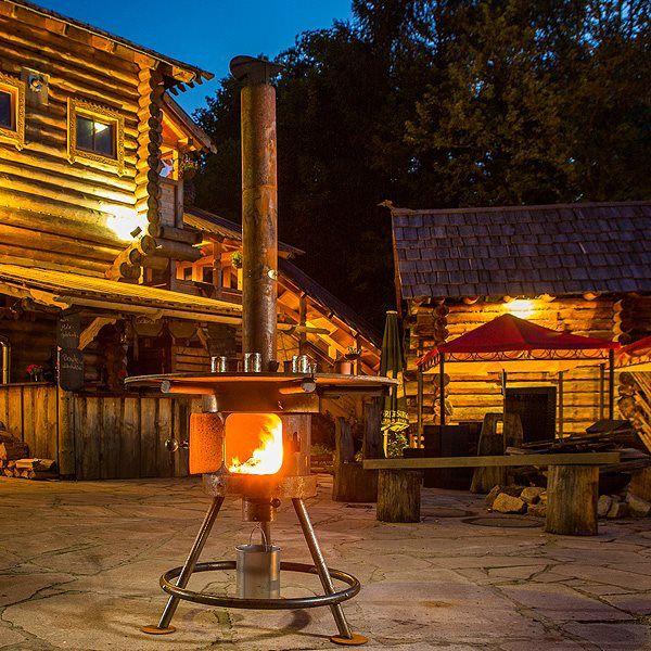 Po le bois d 39 ext rieur de marque alpenofen donnez une for Poele a bois exterieur mexicain