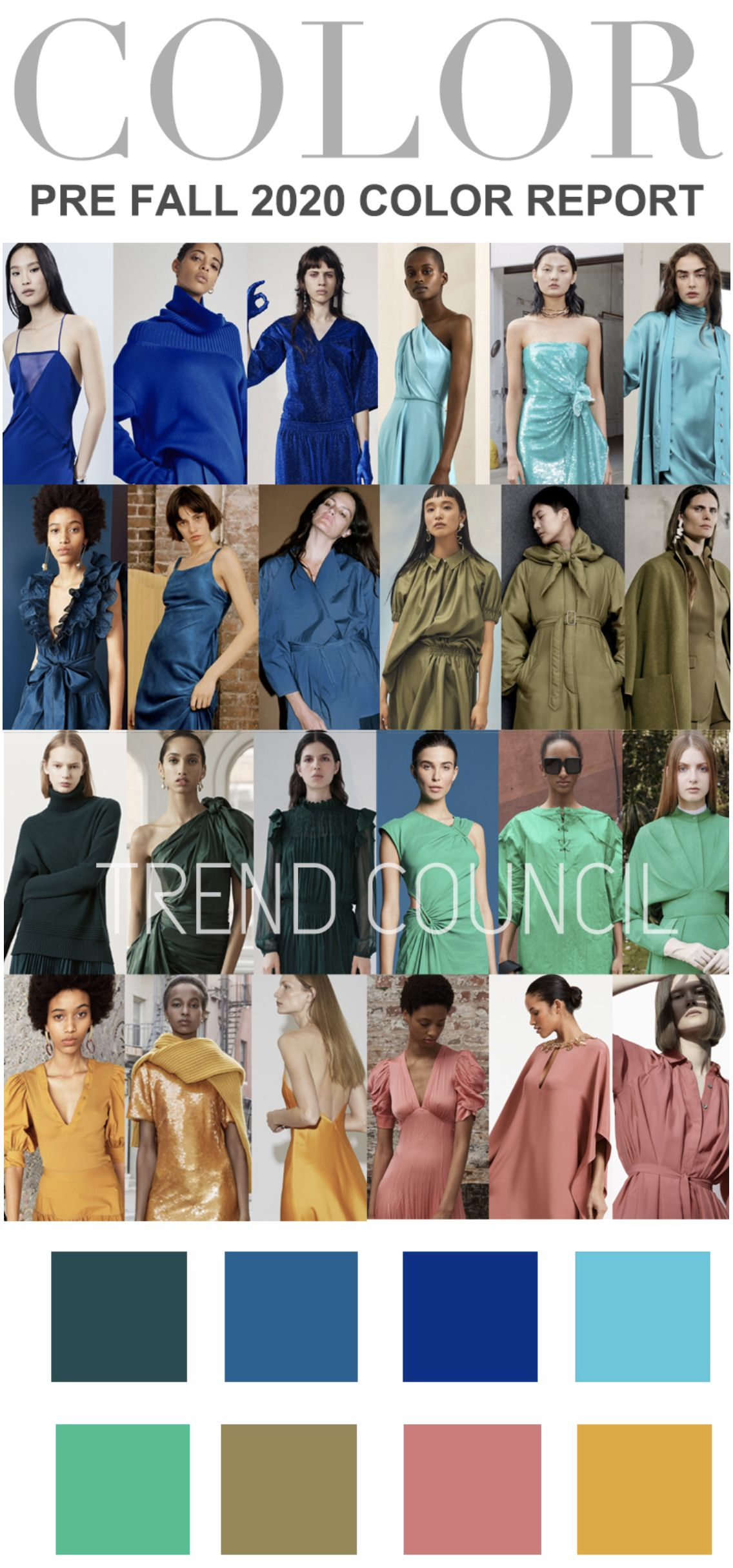 Color Trends 2020 Fashion.2020 Trend Council Colour Report In 2019 Trend Council