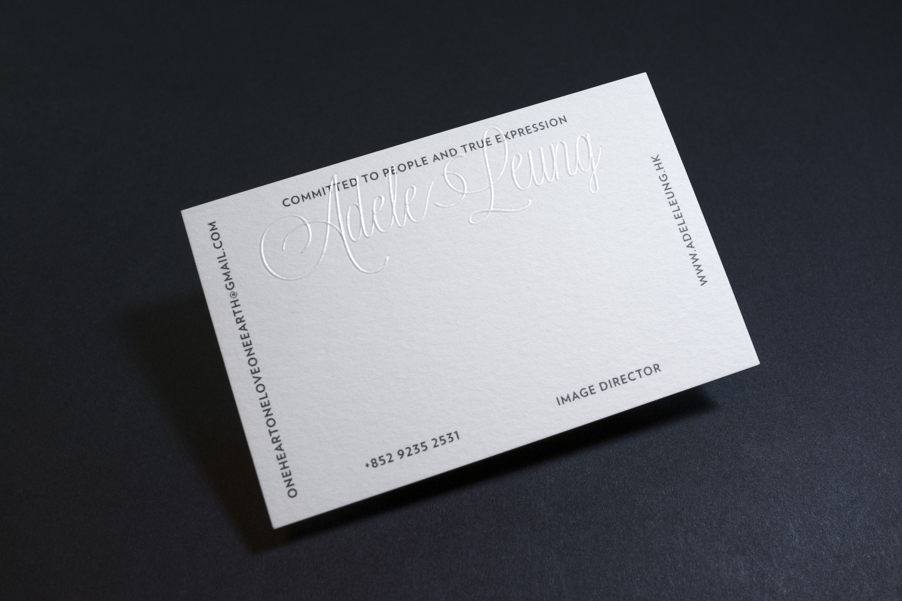 Adele leung blind embossed business card designed by studiomuch adele leung blind embossed business card designed by studiomuch reheart Gallery