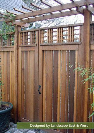 Woodworking Portland Landscaping Company Landscape East West Fence Gate Design Fence Design Fence Landscaping