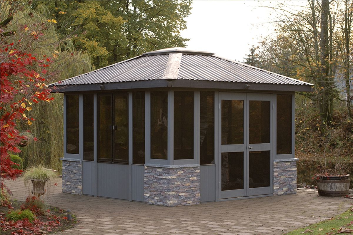 the banff gazebo 11 u0027x11 u0027 fully enclosed available at factory