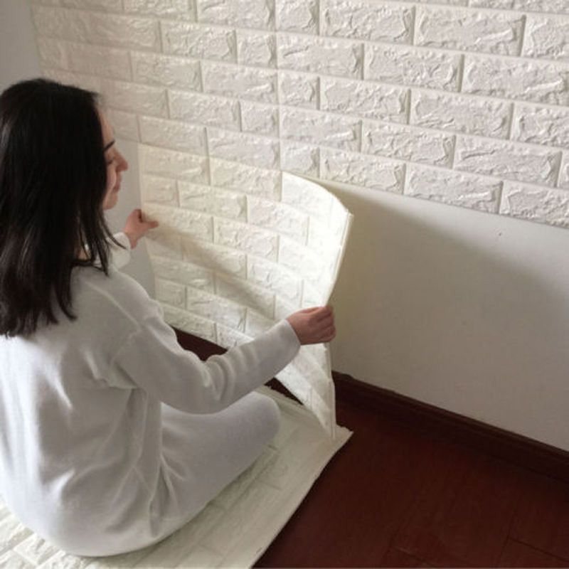 Más nuevo efecto 3D pared de ladrillo de piedra flexible Viny papel