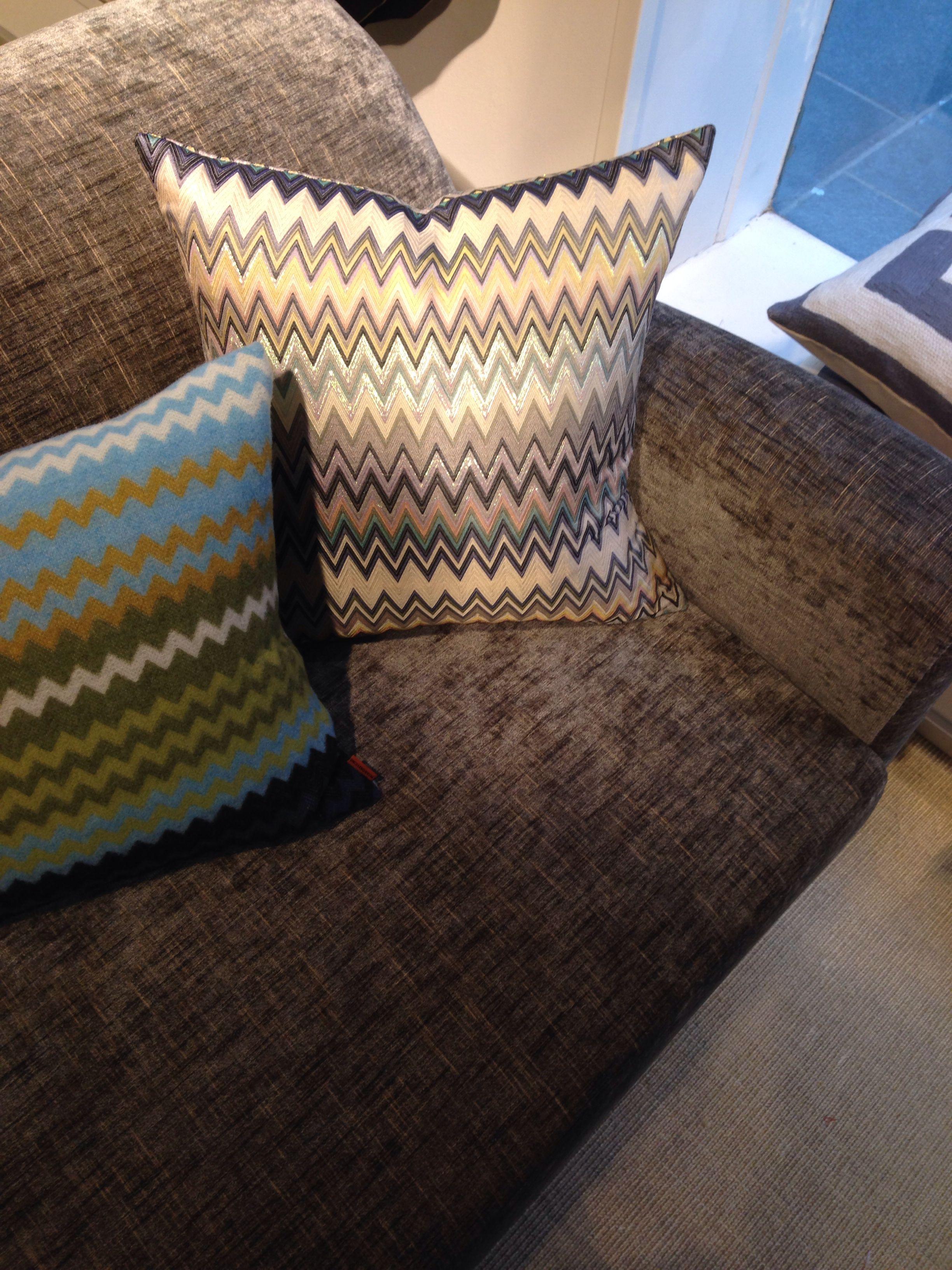 signature fabric pillow pillows interior chair design nest tag chevron missoni