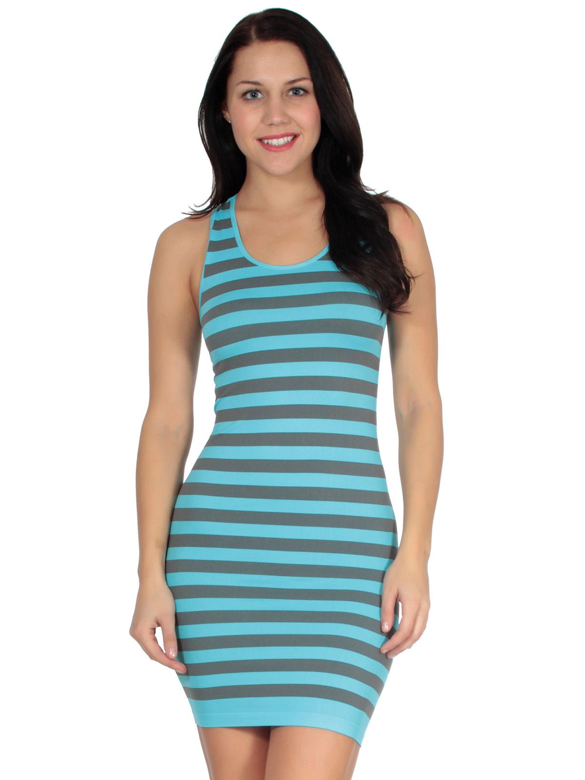 This cute and casual seamless design comes in a two toned striped ...
