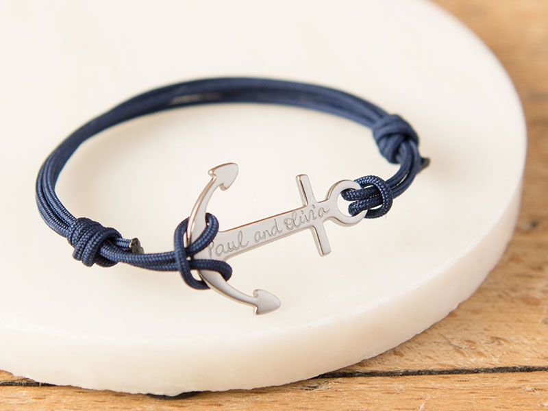 Our Personalised Anchor Bracelet Gives The Symbolic Charm A Modern Twist With Wide Choice Of Braids And Engraving Perfect Gift For Sea