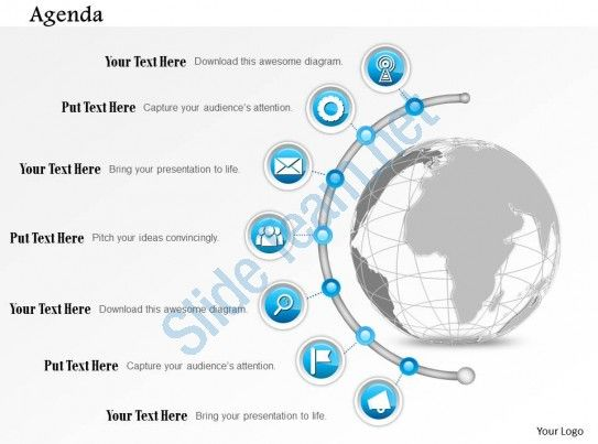 0914 business plan seven point agenda diagram powerpoint - business plan templates