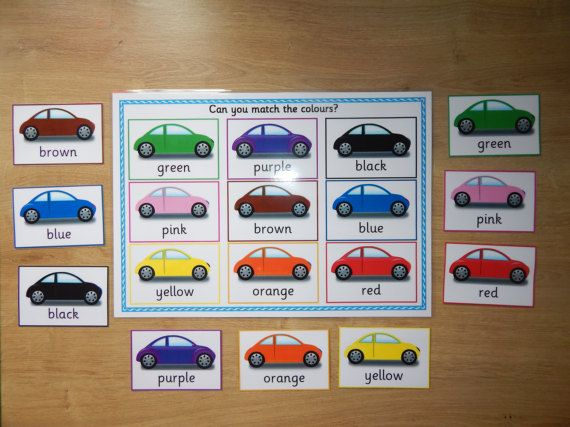 Colour Matching Game  Early Learning EYFS by ElizabethsResources