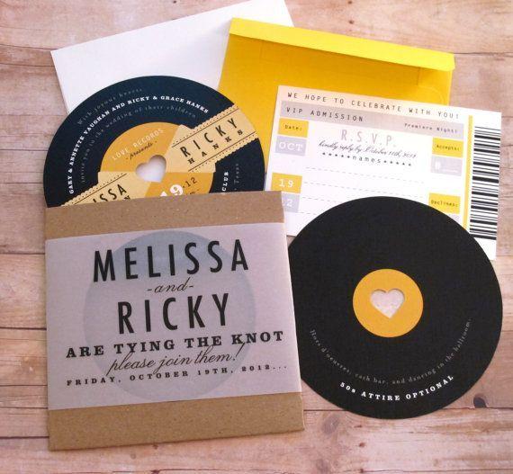 Rockabilly Wedding Ideas: A Retro Record 1950s Rockabilly LP Diecut