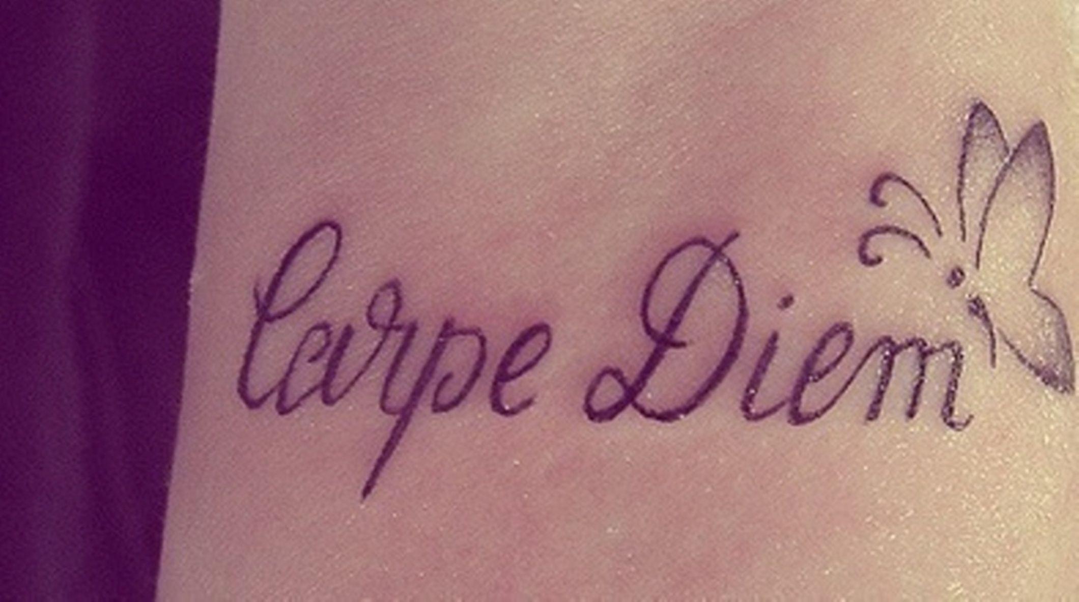 Carpe Diem Tatuaże Tatuaże