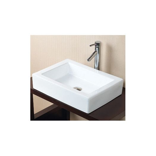 Ronbow Bathroom Sinks ronbow rectangle ceramic vessel bathroom sink in white | home