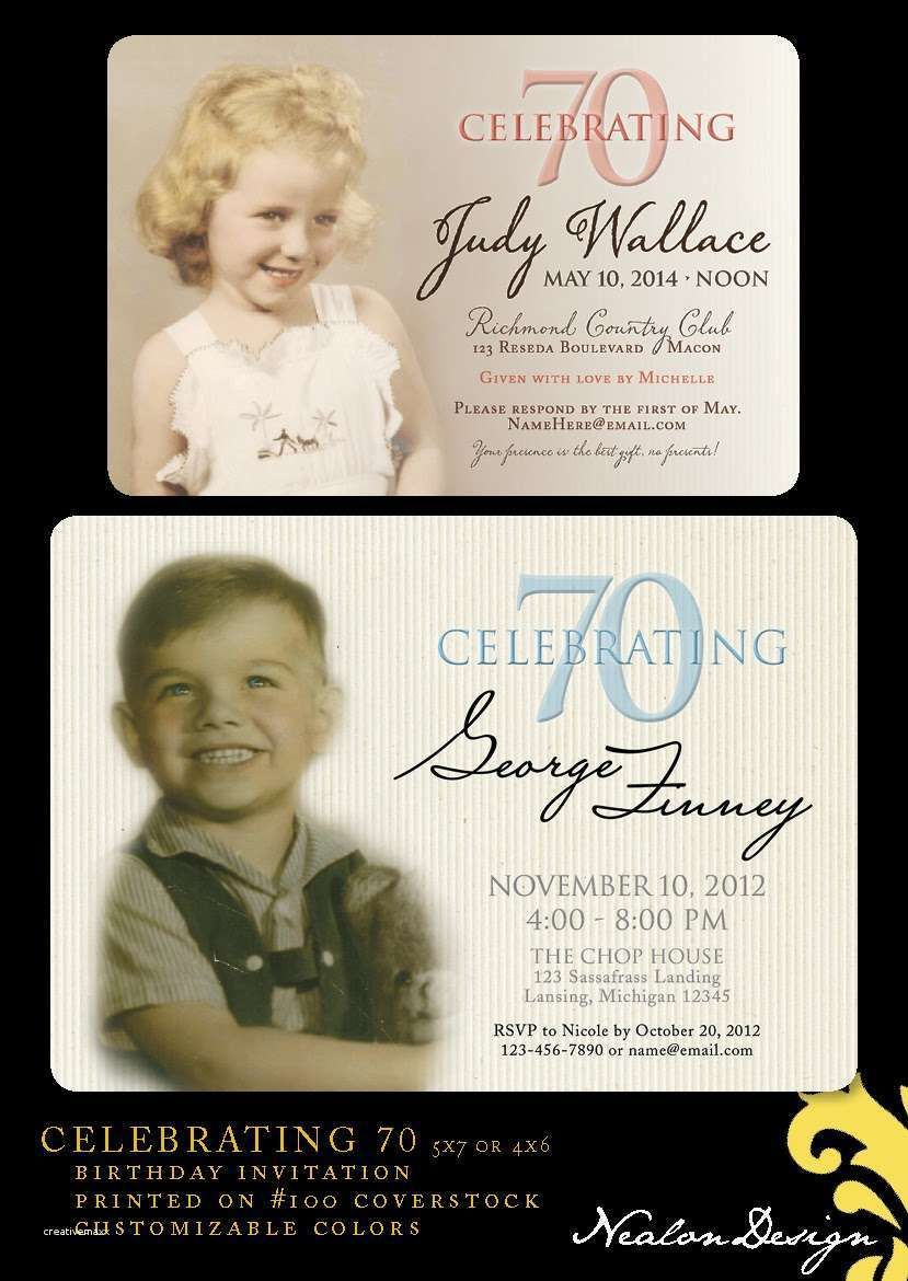 Create Your Own Divine Party Invitation Design 70th Birthday Invitations 70 Cake Parties Celebration
