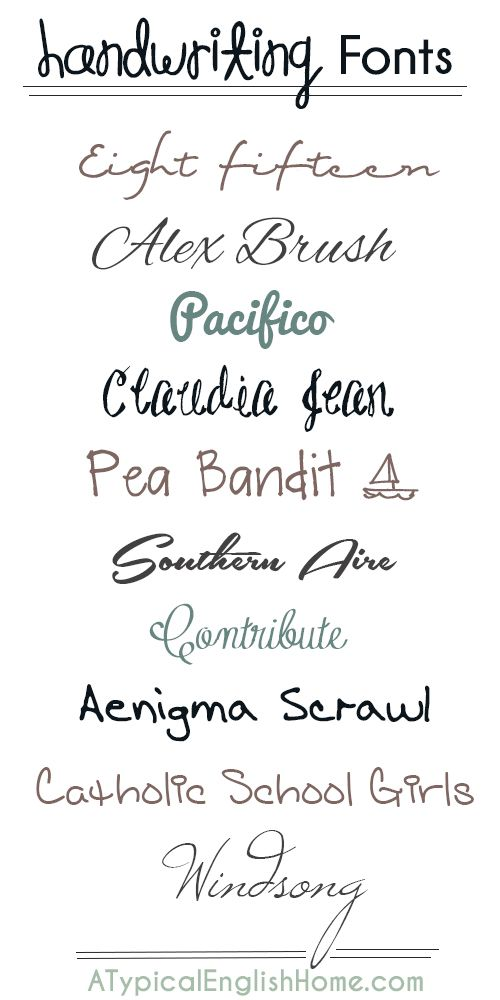 A Typical English Home Best Handwriting Fonts
