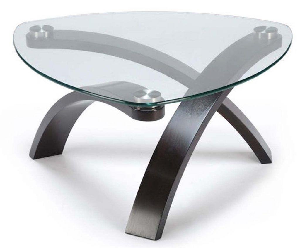 Table Wood Gl Coffee Triangle