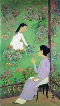 Jeunes Filles Au Jardin Fleuri By Mai Trung Thu Mỹ Thuật Phac