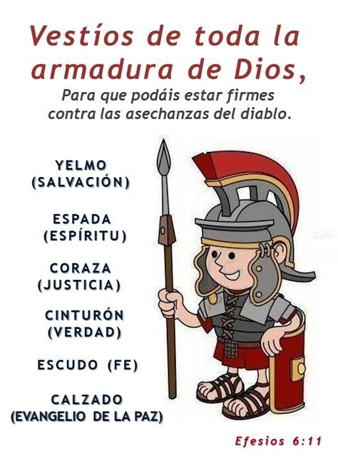 la armadura de dios para niños - Buscar con Google   frases biblicas ...