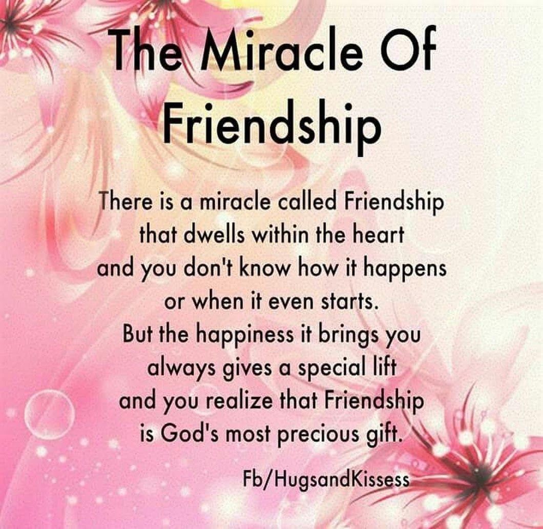 The Miracle of Friendship   Friends quotes, Special friend ...