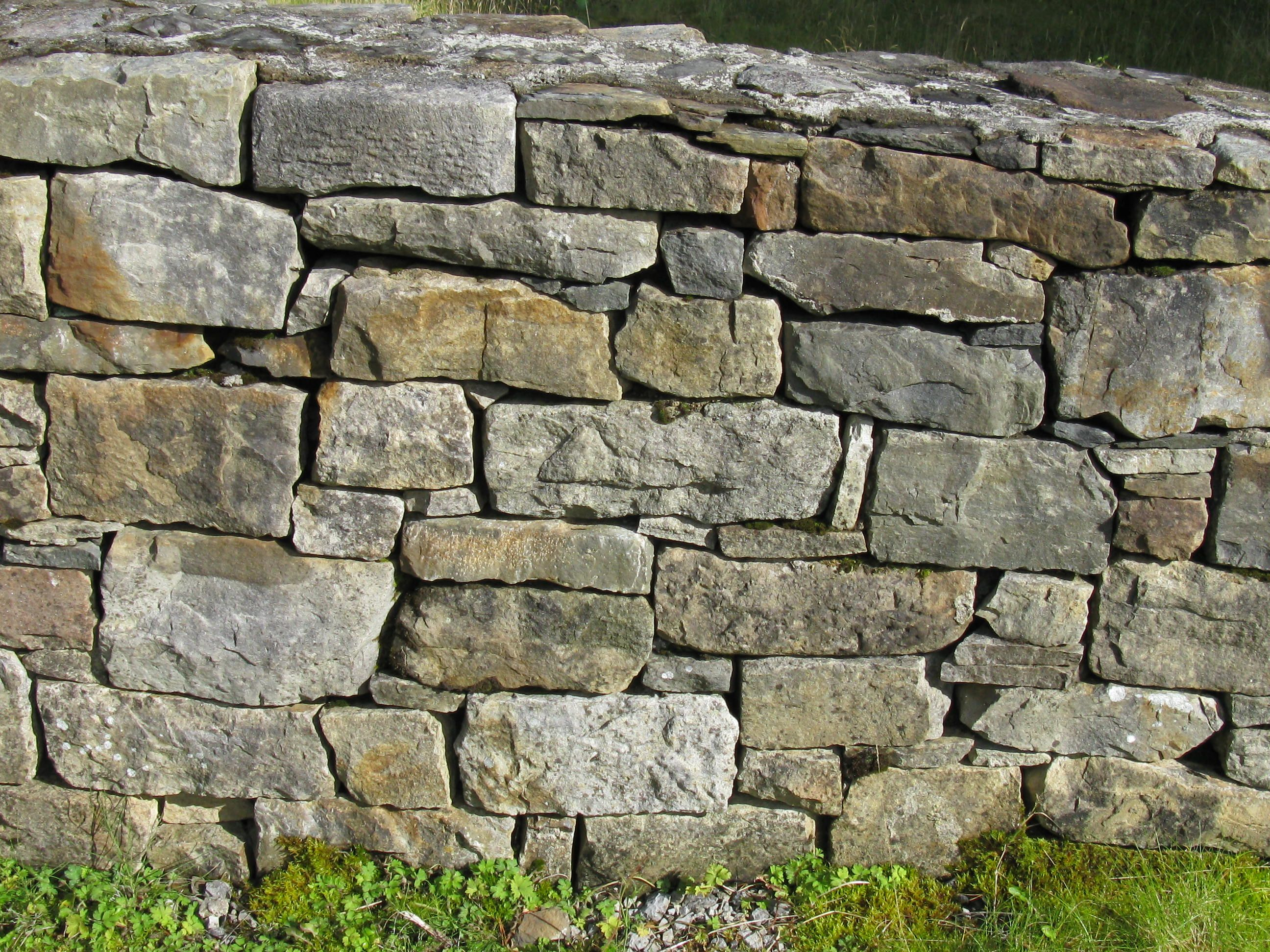 A Typical Irish Stone Fence Made Without Mortar Paints