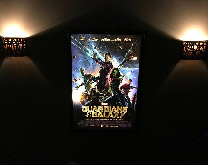 Colored Halo Movie Poster Led Light box Display Frame Cinema Light Up Home Theater Sign.