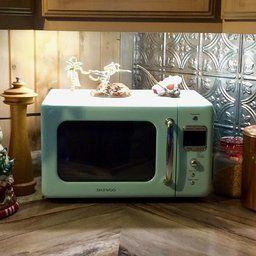 Daewoo Retro Microwave Oven 0 7 Cu Ft Mint Green 700w Launchpad