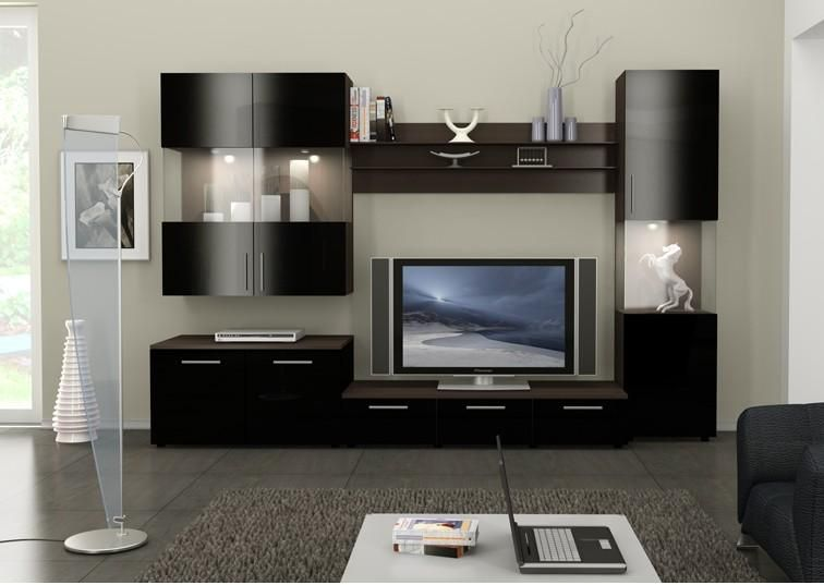 Modern Furniture Wall Units wall color for dark furniture | figaro wall unit [figaro wall unit
